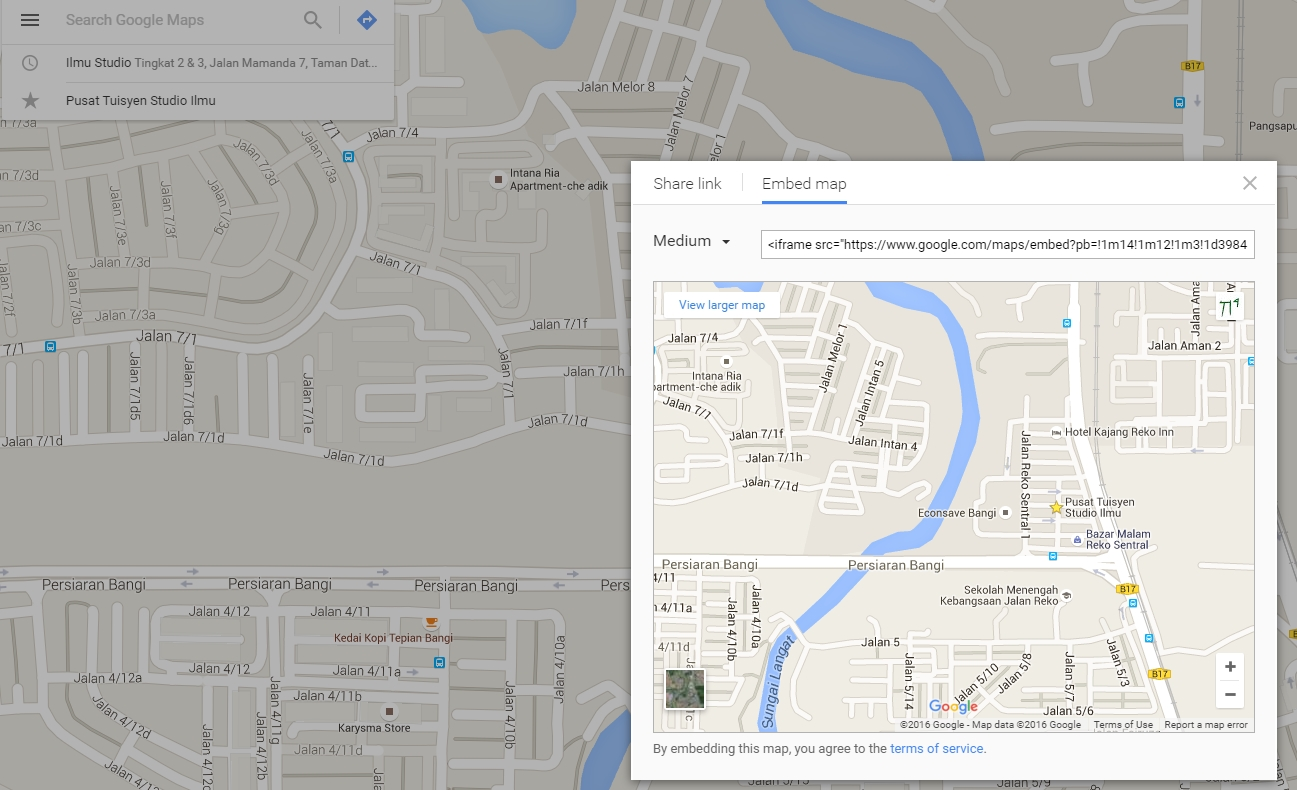 how to add google maps to your website